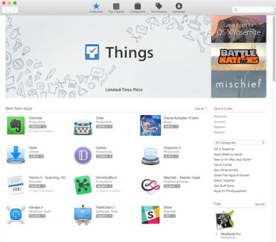 Programm für Mac aus dem App Store herunterladen