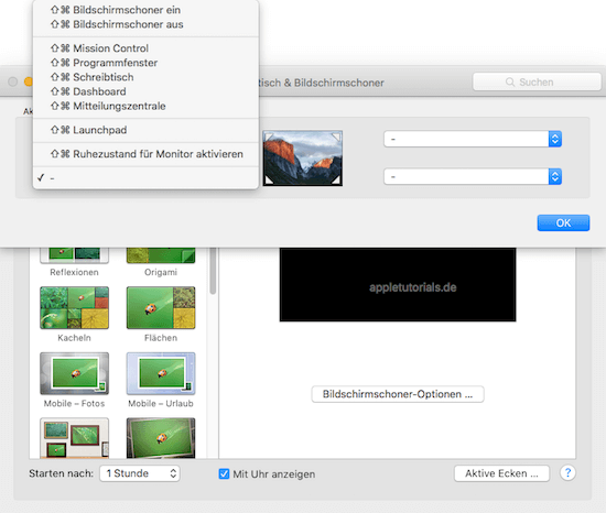 Mac OS X - Mit aktiven Ecken bestimmte Funktionen am Mac auslösen