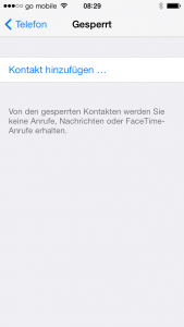 Anrufer in iOS7 sperren