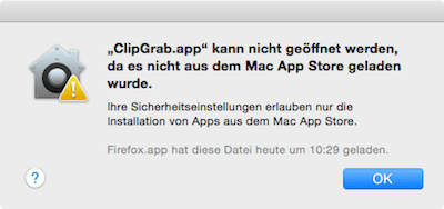 App kann nicht geöffnet werden