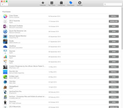 Apps, die aus dem App Store auf den Mac geladen wurden