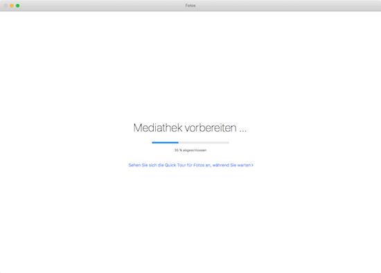 Mediathek für Fotos für Mac OS X vorbereiten und importieren