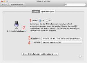 Die Diktierfunktion am Mac aktivieren
