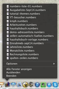 Dateien schnell im Dock finden