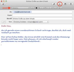 E-Mails am Mac formatieren