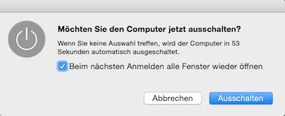 Fenster beim Neustart am Mac wieder öffnen?