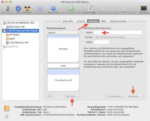Partitionen am Mac erstellen