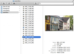 So können Sie Fotos im Finder schnell aufrufen.