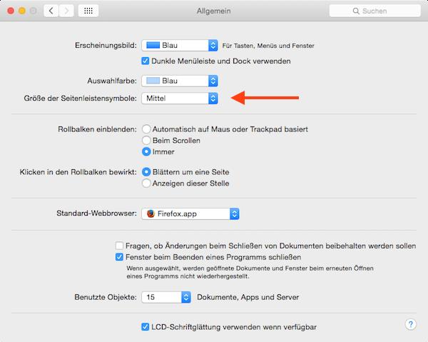 Kann Man Die Schriftgrossen Unter Mac Os X Andern