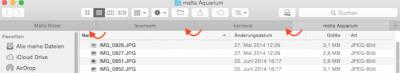 Wie man Tabs im Finder unter Mac OS X sortieren kann