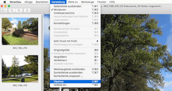 Diashow am iMac oder Macbook automatisch ablaufen lassen