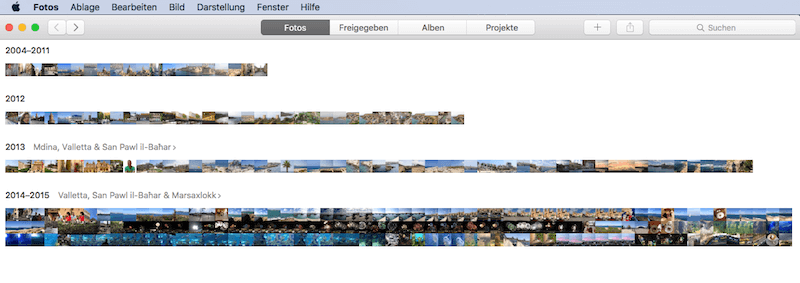 Einleitung in App Fotos für Mac OS X von Apple