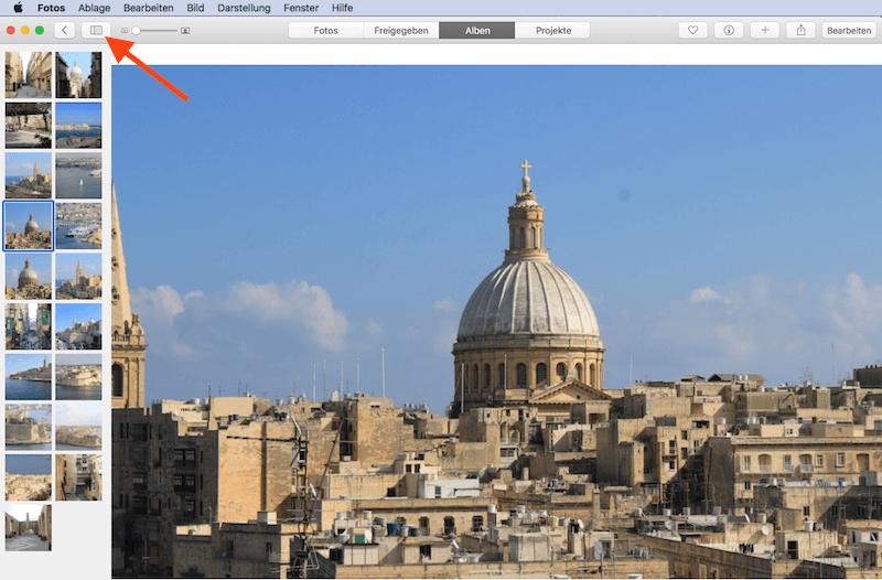 Geteilte Bilder Ansicht in Alben anzeigen in Foto App von Apple