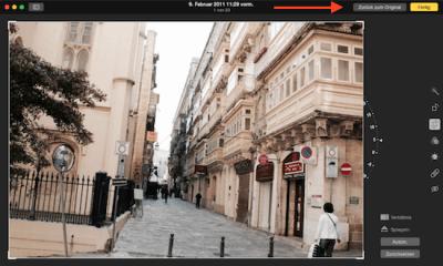 Originalbild in Foto App für Mac OS X wiederherstellen