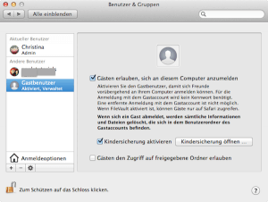 Wie man einen Zugang für Gäste am Mac erstellt