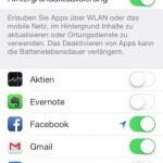 Hintergrund-Aktualisierung am iPhone oder iPad ausschalten