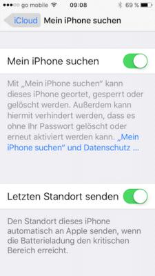 iPhone & iPad Ortung in iOS aktivieren
