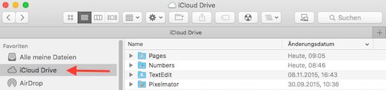 iCloud Drive von Apple auf iMac oder Macbook unter Mac OS X anzeigen im FInder