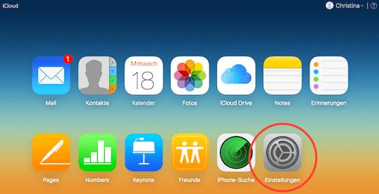 In iCloud einloggen und gelöschte Dokumente wiederfinden