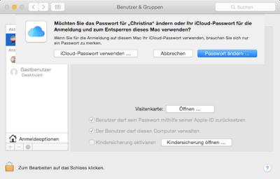 iCloud Passwort am Mac oder Macbook verwenden