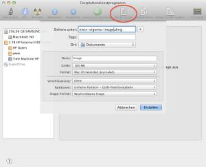 Wie man am Mac ein verschlüsseltes Image erstellt