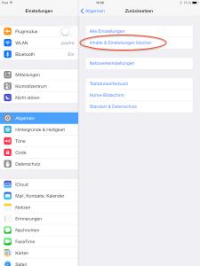 Inhalte in iOS von iPad oder iPhone löschen