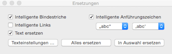 Intelligente Links in Pages abschalten