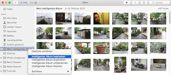 Bedingungen von intelligentem Album in Fotos App bearbeiten