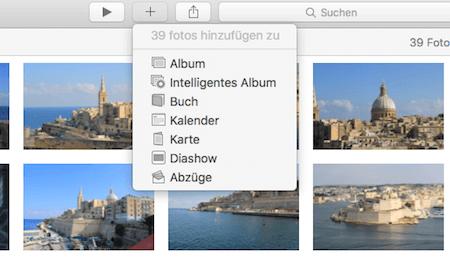 Eigenes Album für Bilder mit Sternchen in Fotos für Mac