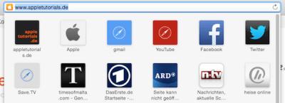 Intelligentes Suchfeld im Safari Browser 8.0 von Apple