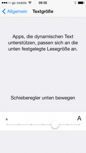 So passt man die Schriftgröße am iPhone oder iPad an.