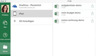 Word, Excel oder Power Point Datei auf iPad öffnen