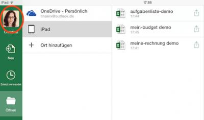Eingefügtes Profilfoto in Office 365 auf dem iPad anzeigen