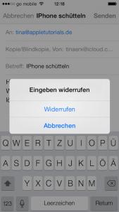 So kann man am iPhone Eingaben widerrufen