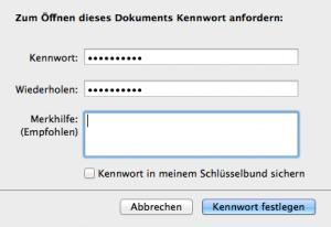 So erstellt man einen Passwortschutz in iWork