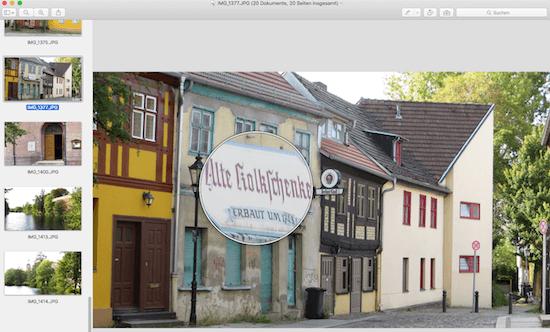 Bild Details am Mac vergrößern mit der Lupe