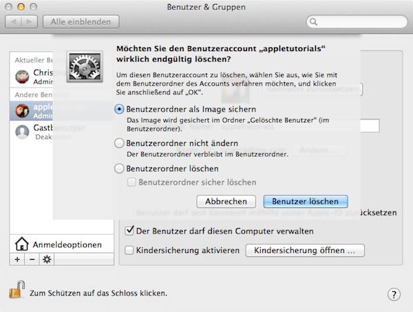 Wie man Benutzer vom Mac löschen kann