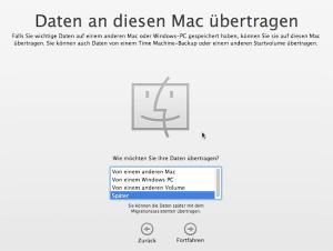 Daten auf eine neuen Mac übertragen