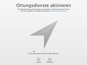 Ortungsdienste am Mac aktivieren oder deaktivieren