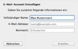 E-Mail am Mac einrichten & Konto hinzufügen