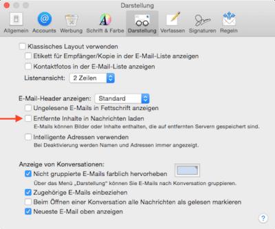 Automatisches Laden von Bildern & Dateien in Mail App verhindern