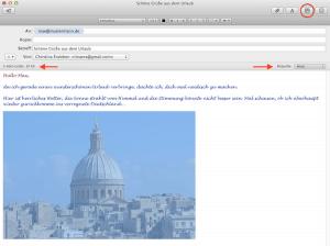 Wie man Bilder in E-Mails am Mac einfügt