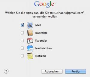 Apple Mail Konto mit Apps verbinden