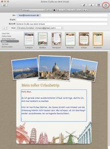 E-Mail mit Apple Mailvorlage erstellen