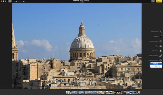 Mit Markup Text in Fotos App am Mac einfügen
