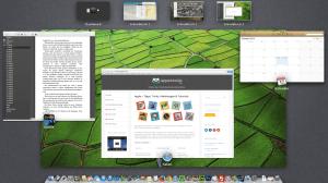 Du kannst am Mac bis zu 16 Schreibtische anlegen