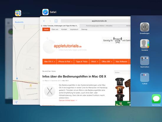 Neue Funktionen in iOS 9 für iPad und iPhone