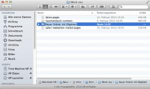 So erstellen Sie am Mac einen neuen Ordner mit den ausgewählten Dateien