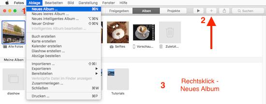 Neues Album in Foto App von Apple erstellen