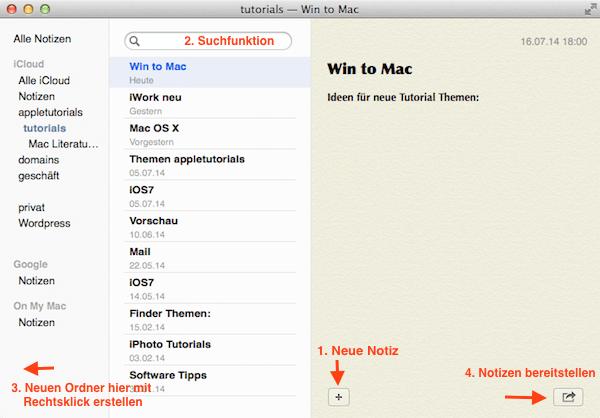 Tipps für die Notizen App von Apple